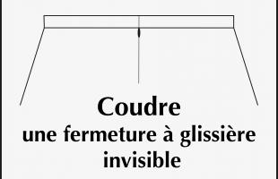 Coudre une fermeture à glissière invisible
